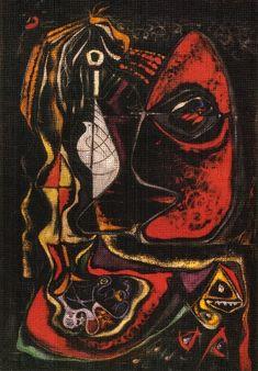 """""""La sorcière (1942)"""", 1942 de André Aimé René Masson (1896-1987, Belgium)"""