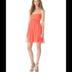 DIANE VON FURSTENBERG Asti Strapless Silk Dress DIANE VON FURSTENBERG Asti Short Strapless Silk Dress In Firework Coral.  A bustier bodice cut from mid-weight jersey provides curve-conforming contrast on a chiffon body. Undone pleats add breezy movement to the skirt, while flexible boning structures the top.   Hidden side zip.     Lined.     Fabric: Silk chiffon.     Shell: 100% silk.     Trim: 71% viscose/23% polyamide/6% elastane.     Lining: 97% polyester/3% spandex.     Dry clean. Diane…