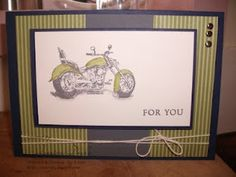 Jess' Crafts: Stampin' Up! Motorcycle and I create a Masculine card