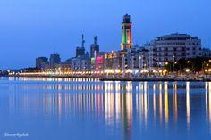 Lungomare di Bari. Ph Gianni Scagliola Bari, Seattle Skyline, Digital, Ph, Travel, Fotografia, Viajes, Destinations, Traveling