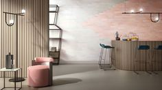 Dezeen promotion:designer studioFormafantasma worked with colours previously used by prolific architectEttore Sottsass to create this range of tiles, which can be used to give ombre effects to surfaces. Amsterdam-basedFormafantasmacreated theCromatica collection for CEDIT Ceramiche d'Italia – an Italianceramics brand that saw success in the 1950s, 60s and 70s, and has recently relaunched with collections by