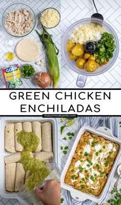 This Green Chicken Enchilada Recipe is sure to please the whole family! This green sauce stars tomatillos lending to a savory but not spicy green enchilada that is sure to please everyone when mixed with corn tortillas, chicken, fresh corn, and cheese! Green Chicken Enchiladas, Green Enchiladas, Green Enchilada Recipe, Chicken Enchiladas Verde, Green Chicken Enchilada Recipe, Chicken Enchiladas with Green Sauce Green Enchilada Recipe, Chicken Enchiladas Verde, Pleasing Everyone, Spicy Sauce, Corn Tortillas, Recipe Chicken, Dinners, Pasta, Cheese