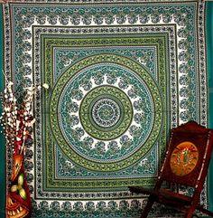 Hippie Tapestries Wall Hanging , Indian Mandala Tapestry Bedspread , Dorm Tapestry , Vintage Decorative Wall Hanging , Traditional Tapestries for Dorms BhagyodayFashions http://www.amazon.com/dp/B00PBYTF9W/ref=cm_sw_r_pi_dp_QyaKvb1CZTREQ