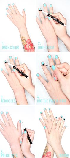 Makeup Monday: Cat Nail Art Tutorial