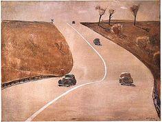 Alexander Deineka - The Road to Mount-Vernon, 1935 Russian Painting, Russian Art, Watercolor Portraits, Watercolor Art, Socialist Realism, Soviet Art, Magic Realism, Mount Vernon, Party Pictures