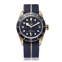 Created as part of the Swiss retailer's anniversary Blue Editions collection, the Tudor x Bucherer Heritage Black Bay Bronze Blue Watch is a unique take on an already handsome timepiece. Mechanically identical to the standard model, including the Tudor. Tudor Black Bay Blue, Tudor Black Bay Bronze, Tudor Bronze, Tudor Heritage Black Bay, Pre Owned Watches, Watches For Men, Wrist Watches, Men's Watches, Tudor Pelagos
