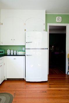Rhiannon's Jadeite Jewel of a Kitchen — Kitchen Tour, Big Chill fridge