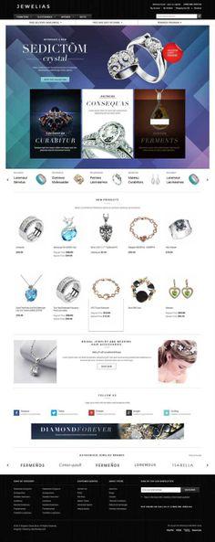 E-commerce jewellery website developed in Magento by Honcho Commercial Pvt. Ltd., via Behance