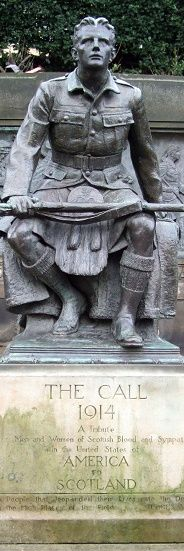 Scottish American war memorial, Edinburgh (Sculptor uncredited)