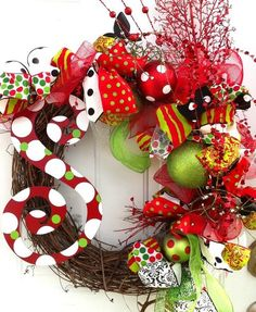 I like this vendor (and they are in Jacksonville, NC!) Personalized wreaths for every occasion by LinnieLous on Etsy, $65.00