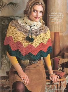 As Receitas de Crochê: Mini poncho em croche