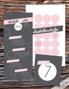 Printable/DIY Sweet Pea Pink & Grey wedding invitations   Inspirations  |  Brides & Groom