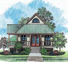 Harper - Acadian House Plans Cottage Home Plans Cottage House Plans, Cottage Living, Small House Plans, Cottage Homes, House Floor Plans, Cottage Ideas, Loft Floor Plans, Rustic Cottage, Tiny Living
