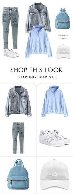 """Wild blue"" by jdunskaya on Polyvore featuring Moschino, adidas Originals, Street Level и adidas"