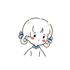 Cute Bear Drawings, Kawaii Drawings, Cartoon Drawings, Cartoon Art, Anime Chibi, Anime Art, Simple Anime, Cute Cartoon Characters, Cute Love Memes