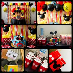 My sons first birthday .. Mickey Mouse theme ..