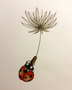 #inkspiration #tattoo #ladybug #bugs #copic #colored #dandelion #blowball