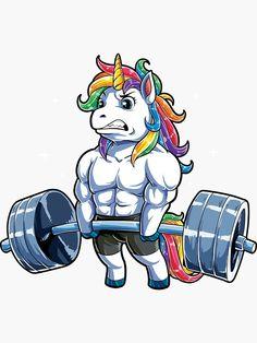'Unicorn Weightlifting T shirt Fitness Gym Deadlift Rainbow Gifts Party Men Women' Sticker by LiqueGifts Dope Cartoons, Dope Cartoon Art, Candy Drawing, Easy Canvas Painting, Unicorn Art, Cartoon Wallpaper, T Rex, Disney Art, Cute Art
