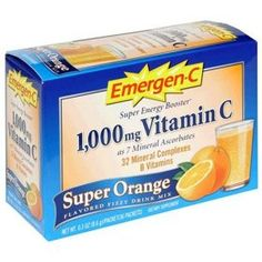Emergen-C packets. I absolutely swear by this stuff! One packet every-hour-on-the-hour during an illness will go a long way to re-building the immune system.