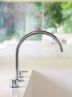 Vola -Three-Hole Deck-Mounted Basin Or Kitchen Faucet