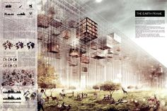 SCoopA Announces Winners of 2015 Milan Expo Competition,Earth Frame Competition Board. Image via Social Cooperation Architects