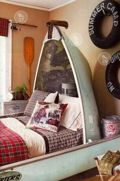 Awesome Camping Bedroom Decor - adventure and living Decor, Room, Bedroom Themes, Fishing Bedroom, Camping Bedroom, Cabin Decor, Home Decor, Simple Bedroom, Comfortable Bedroom