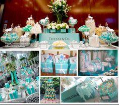 Breakfast at Tiffany's Bridal Shower - table decor