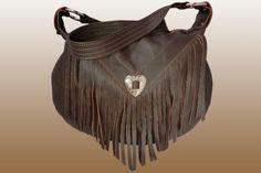Large Leather Fringe Bag