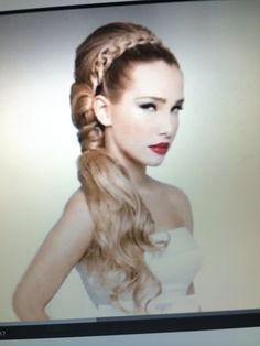Formal hairstyle; prom hair; wedding hair; updo; braid; side; long hair; hairstyles