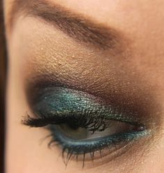 peacock eye shadow tutorial