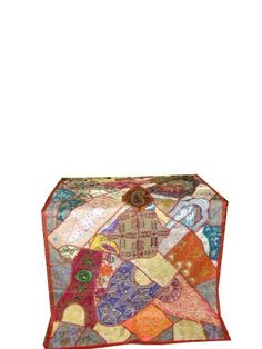 Multi Orange Vintage Beaded India Sari Wall Tapestry Hanging Throw Mogul Interior http://www.amazon.com/dp/B00CBPX72A/ref=cm_sw_r_pi_dp_DiAxvb113MS7S