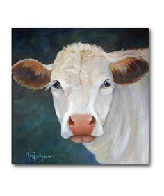 Take a look at this White Cow Wrapped Canvas today!