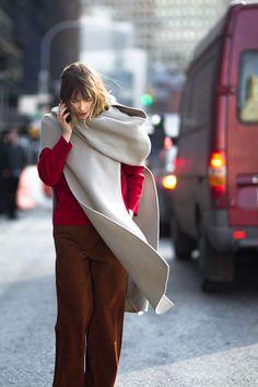 Anya rocking red in NYC. #AnyaZiourova