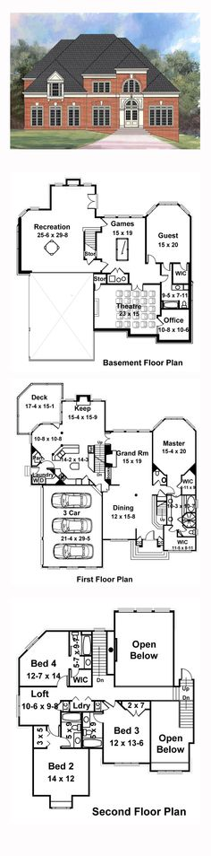 49 best Greek Revival House Plans images on Pinterest | Dream home ...
