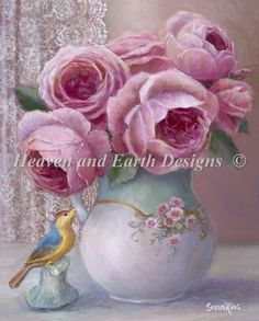 Vase by the Window cross stitch chart - HAED - Heaven and Earth Designs
