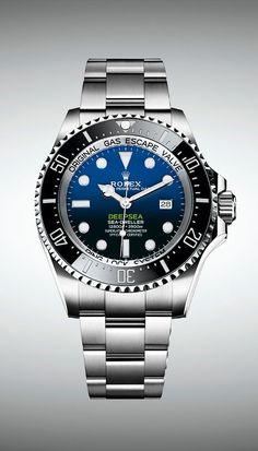 The new Rolex Deepsea features a case with redesigned lugs and sides and a broader Oyster bracelet. The new Rolex Deepsea features a case with redesigned lugs and sides and a broader Oyster bracelet. Rolex Watches For Men, Fine Watches, Luxury Watches For Men, Sport Watches, Cool Watches, Wrist Watches, Men's Watches, Rolex Gmt, New Rolex