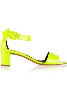 Bruno Magli Neon patent-leather sandals | NET-A-PORTER