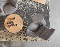 ARZU Studio Hope rug with Massaud Work Lounge