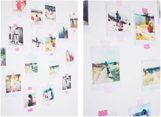 Pastill.nu: Print pics from your phone and put them on the wall with washi tape.