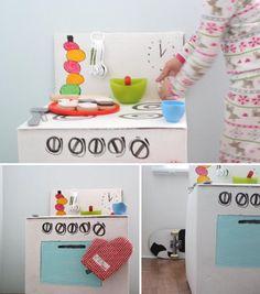 cool cardboard kitchen tutorial