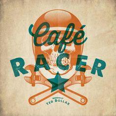 Café Racer by Ted Dollar, via Behance #caféracer #motorcycle #tattoo #custom