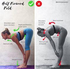 ✨Half Forward Fold✨Ardha Uttanasana✨ We flow through this move dozens of t. - ✨Half Forward Fold✨Ardha Uttanasana✨ We flow through this move dozens of times in yoga and ra - Yoga Flow, Yoga Bewegungen, Yoga Moves, Yoga Exercises, Yoga Fitness, Health Fitness, Yoga Trainer, Flexibility Workout, Restorative Yoga