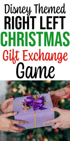 Disney Themed GIft Exchange Printable - Looking for a fun and easy Christmas gift exchange game? Get this Disney themed Right Left Christma - Christmas Gift Exchange Games, Christmas Games, Holiday Games, Christmas Desserts, Christmas Eve, Christmas Ideas, White Elephant Game, White Elephant Gifts, Elephant Party