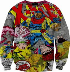 Marvel XMen Comic Crewneck sweater