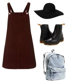 """Untitled #1"" by soph-l ❤ liked on Polyvore featuring moda, Topshop, Monki, Dr. Martens ve H&M"