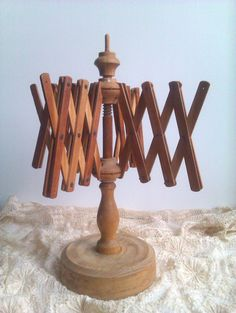 Wool Winder Vintage Wooden Yarn Winder Umbrella by AlMercatino