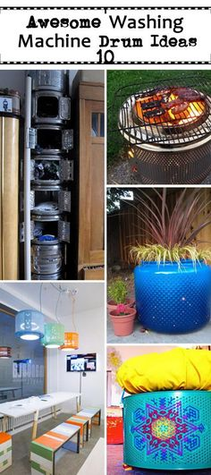 Awesome Washing Machine Drum Ideas!