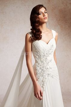 T152069 / Wedding Dresses / Jasmine Couture Collection / Available Colours : Ivory, White (close up)