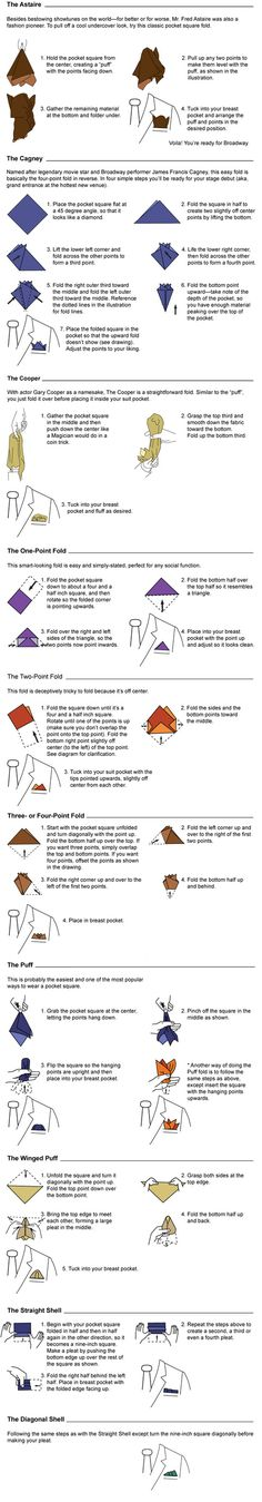 How to Fold a Pocket Square Handkerchief