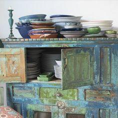 EN MI ESPACIO VITAL: Muebles Recuperados y Decoración Vintage: Más muebles recuperados y pintados {More recycled and painted furniture}